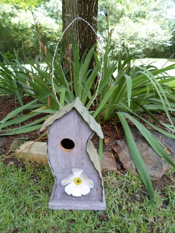 vogelhäuschen selber bauen holz umweltfreundlich lücke