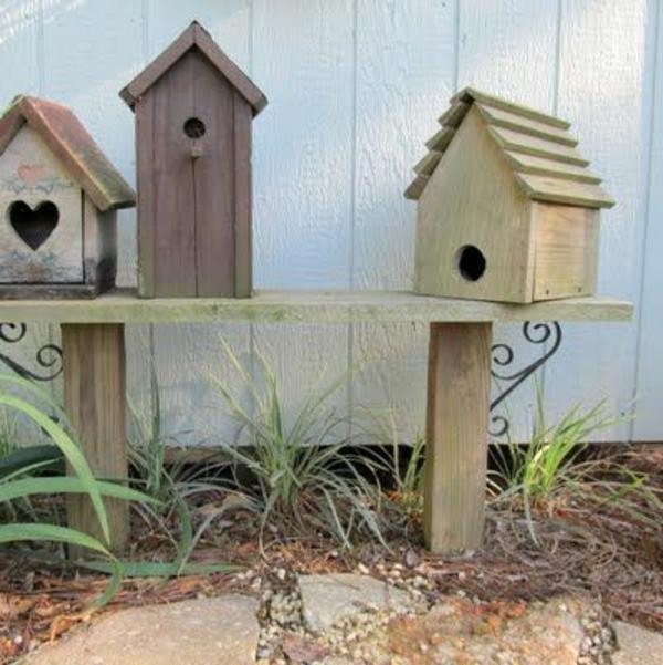 vogelhaus bauen holz umweltfreundlich mehrere