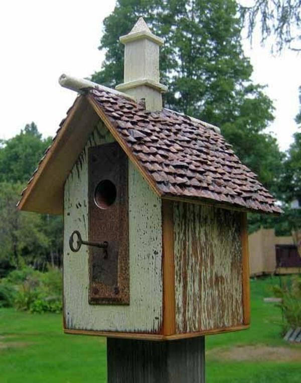 holz umweltfreundlich schlüssel vogelhäuschen diy