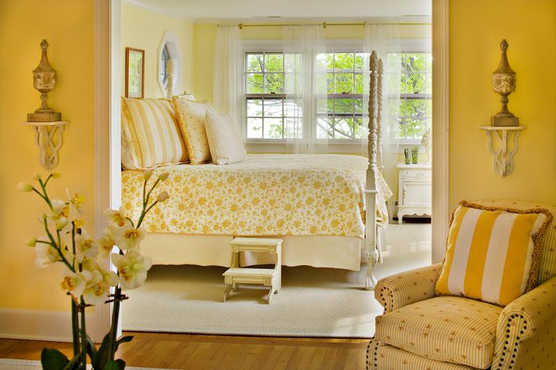 wandfarbe gelb farbgestaltung ideen in der frischen. Black Bedroom Furniture Sets. Home Design Ideas