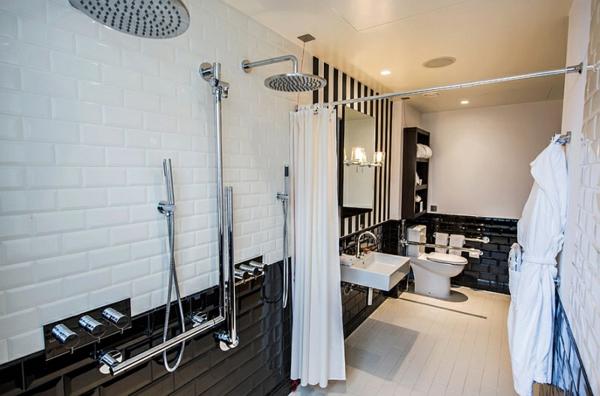 Badezimmer Ideen In Schwarz-weiß - 45 Inspirierende Beispiele Badezimmer Fliesen Schwarz