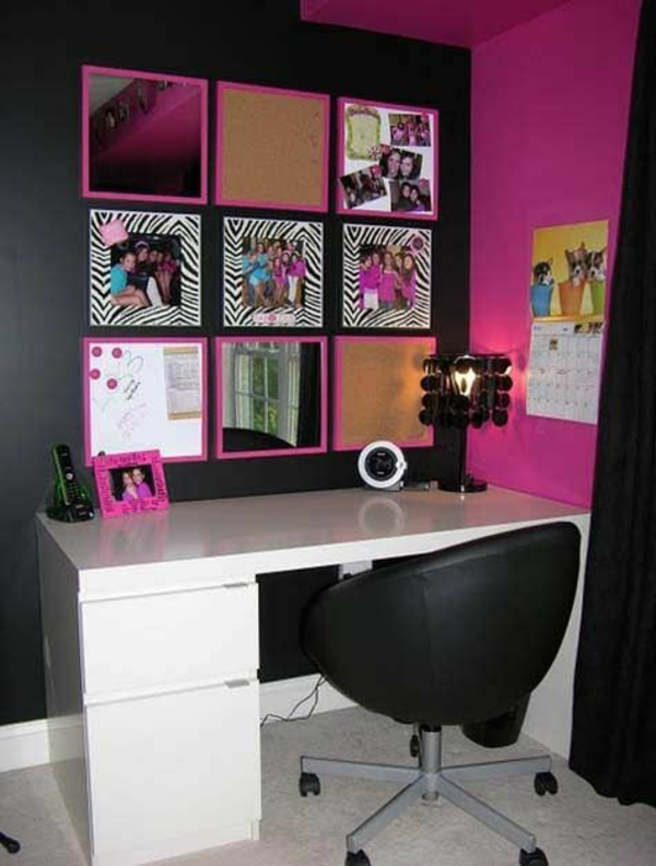 trendy originelle wandgestaltung im jugendzimmer. Black Bedroom Furniture Sets. Home Design Ideas