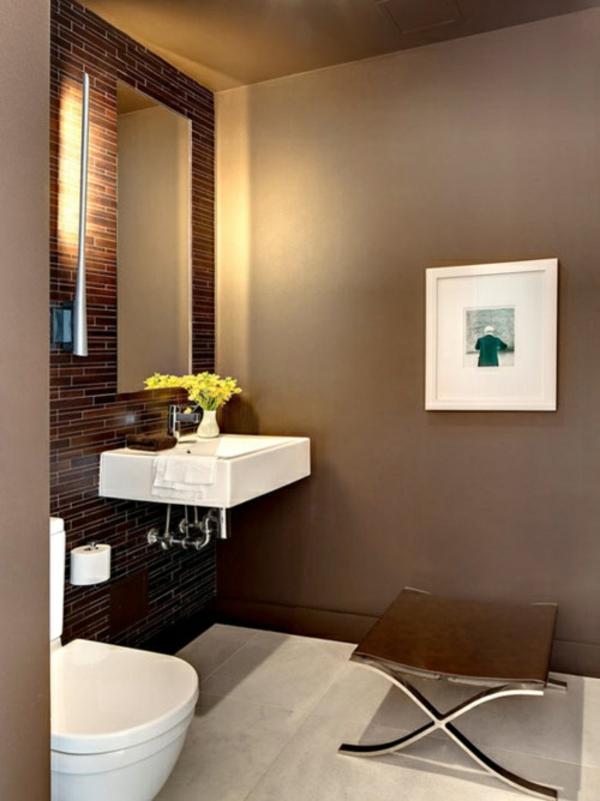 warme farben ideen badezimmer design waschbecken