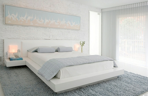 weiß blau blass schlafzimmer komplett einrichten