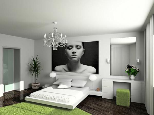 modern komfortabel interior design schlafzimmer