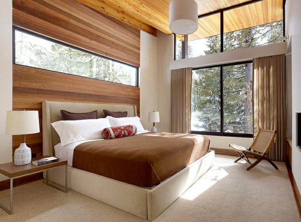 weich matratze schlafzimmer braun holz bretter