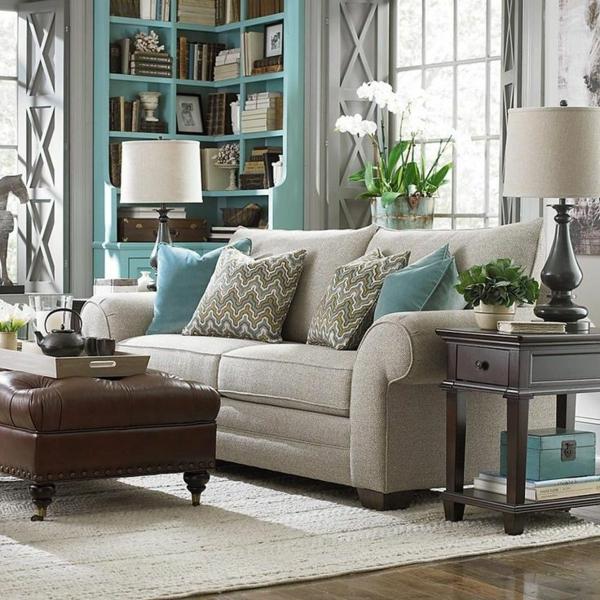 wohnideen für zimmergestaltung sofas stehlampe