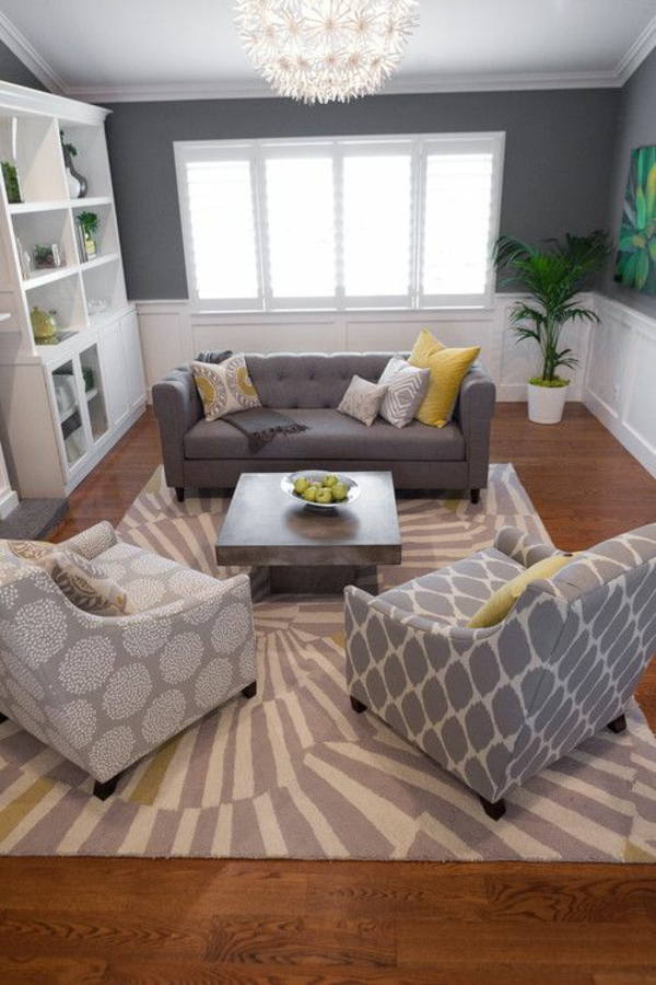 wohnideen für zimmergestaltung teppich streifen