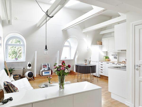 Wohnzimmer Nordisch Einrichten ~ Dachwohnung einrichten inspirirende ideen