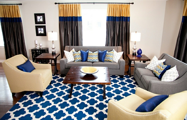 Smarte anwendung von chevron mustern im wohnzimmer for Akzente design
