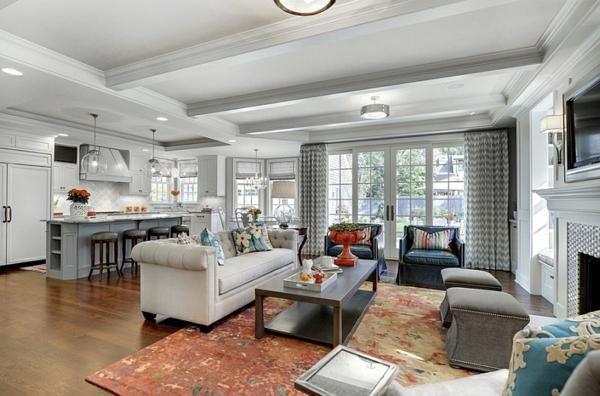 Smarte Anwendung Von Chevron Mustern Im Wohnzimmer Wohnideen Wohnzimmer Grau