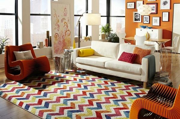 Smarte Anwendung Von Chevron Mustern Im Wohnzimmer | Einrichtungsideen ...