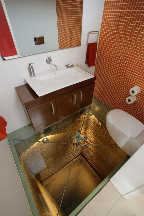wohnungseinrichtung ideen badezimmer bodenbelag