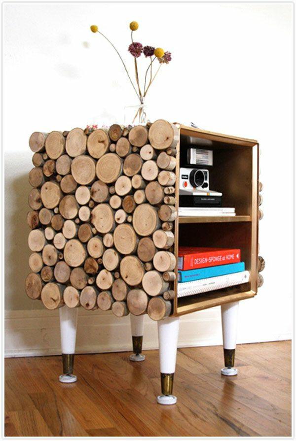 wohnung einrichtung ideen brennholz kunstvoll