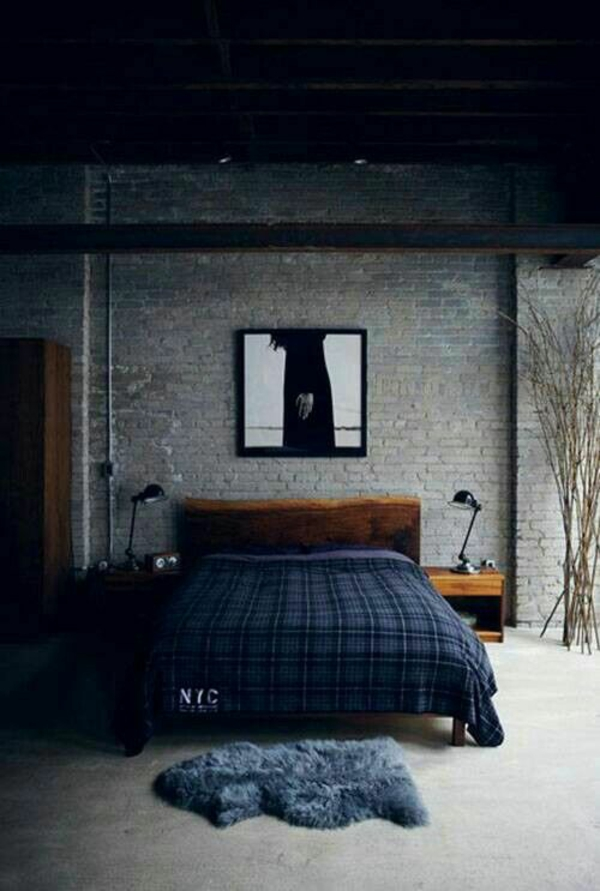 wohnung einrichtung ideen dunkel schlafzimmer