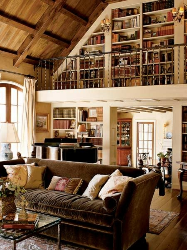 BUcherregal Bibliothek Holz ~ Stilvolle bucherregalsysteme