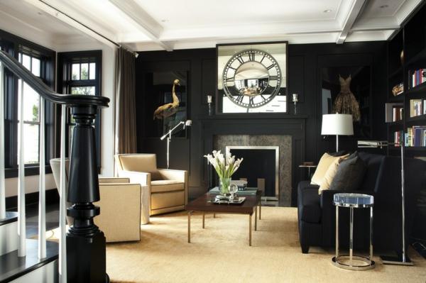 wohnzimmer ideen schwarzes sofa | möbelideen, Wohnzimmer dekoo