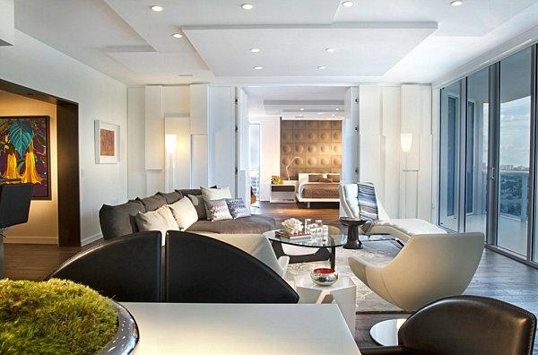 wohnzimmer design ideen sitzecke pflanzen