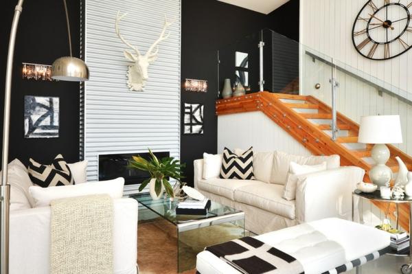 wohnzimmer design ideen wand wellblech dekoideen