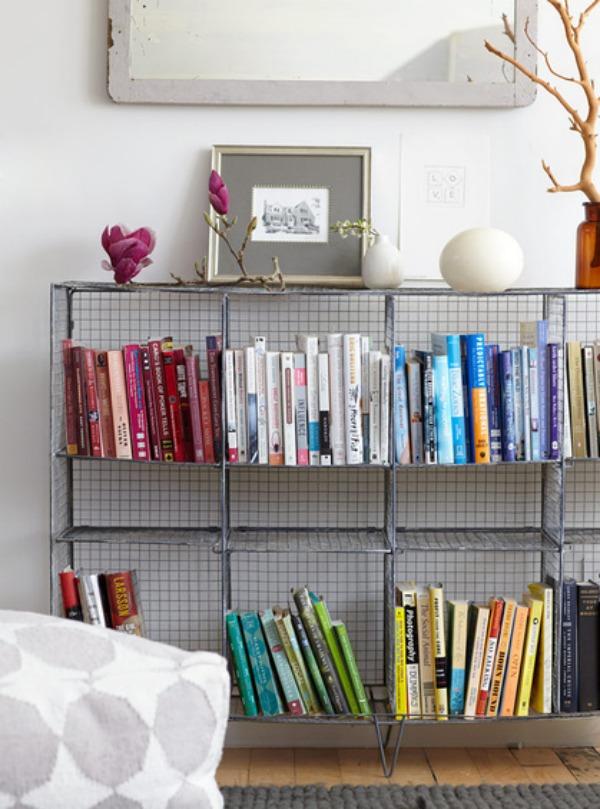 Wohnzimmer Gestalten Stauraum Ideen Wohnideen Draht Regale Bucherregal