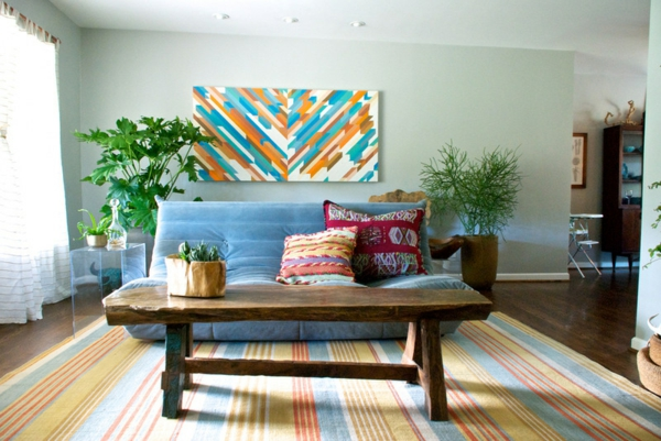 wohnzimmer ideen ordnung halten sofa