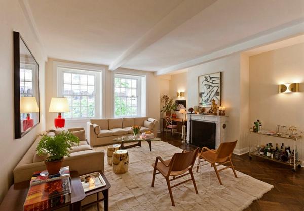 wohnzimmer interior design ideen garten hocker gold sitzecke