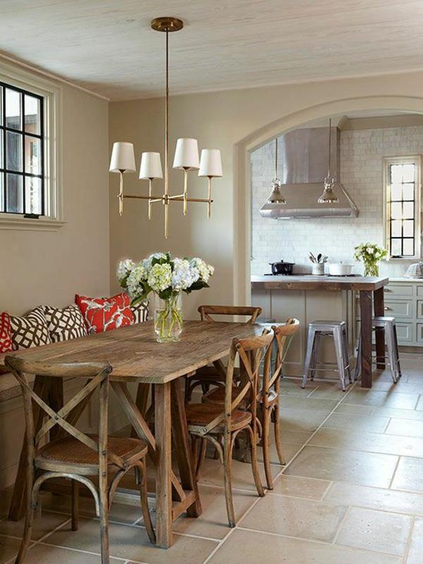zarte farbgestaltung in der wohnung esstisch küchennische