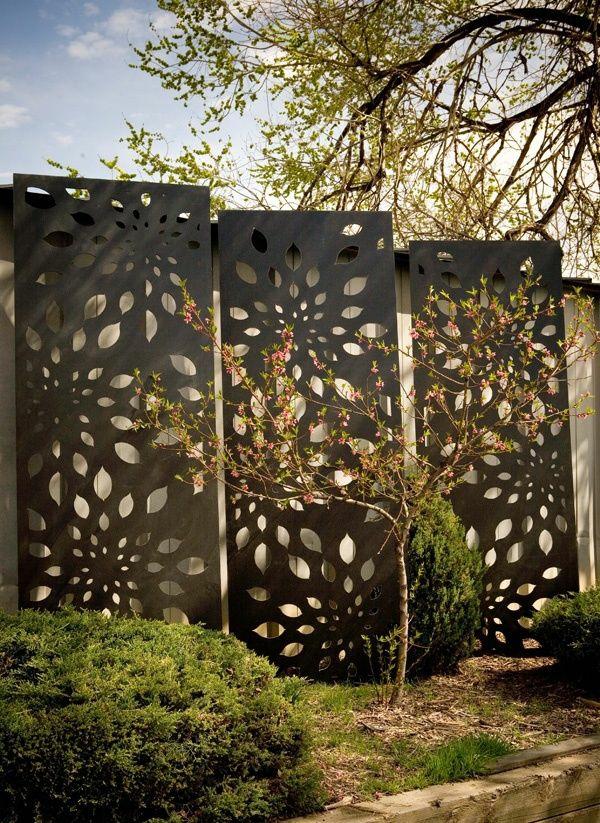 Moderne gartenz une schaffen sichtschutz im au enbereich - Panneau decoratif jardin metal ...