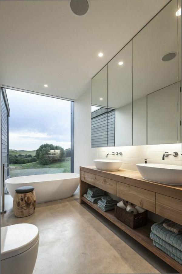zeitgenössische badezimmergestaltung freistehende wanne waschbecken