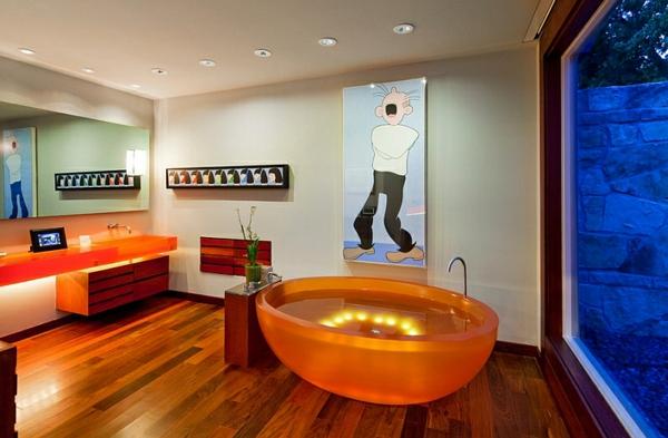 zeitgenössisches badezimmer unique badewannen ideen