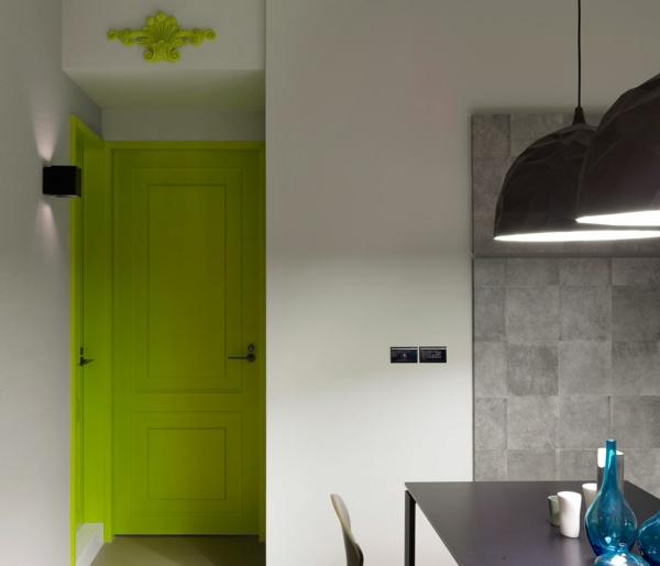 zimmertüren grün übergang küche