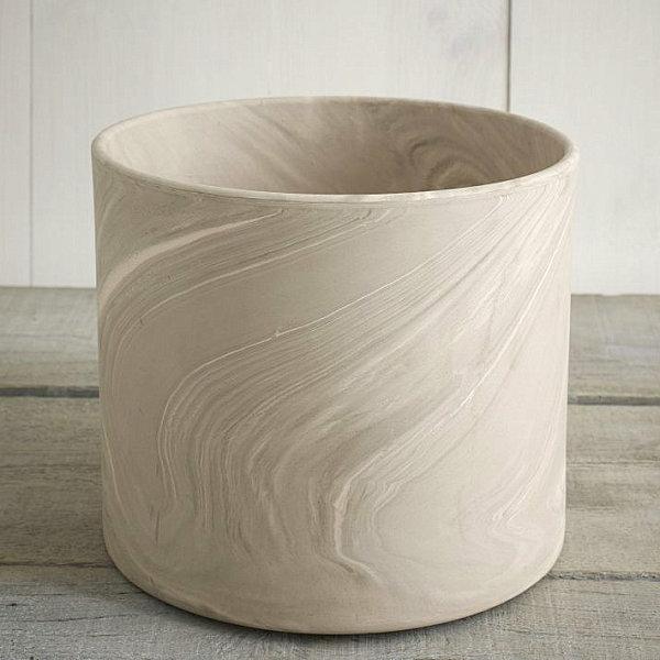 zylindrisch blumentopf marmor textur