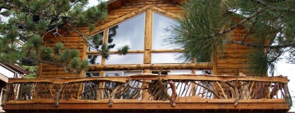 Аbsturzsicherung wald Geländer haus fassade terrasse