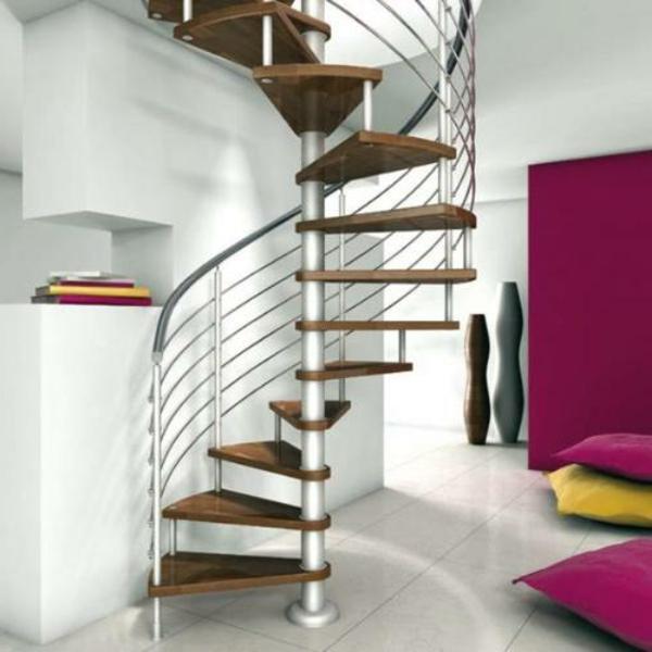 edelstahl geländer kunstvoll  treppe