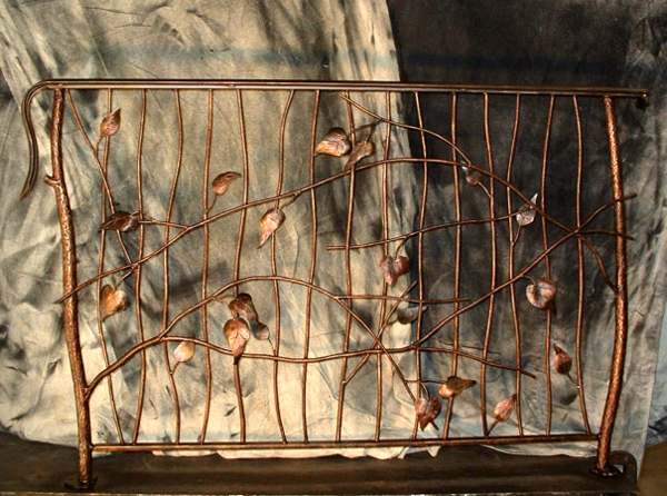 Аbsturzsicherung bronz Geländer natürlich außenbereich