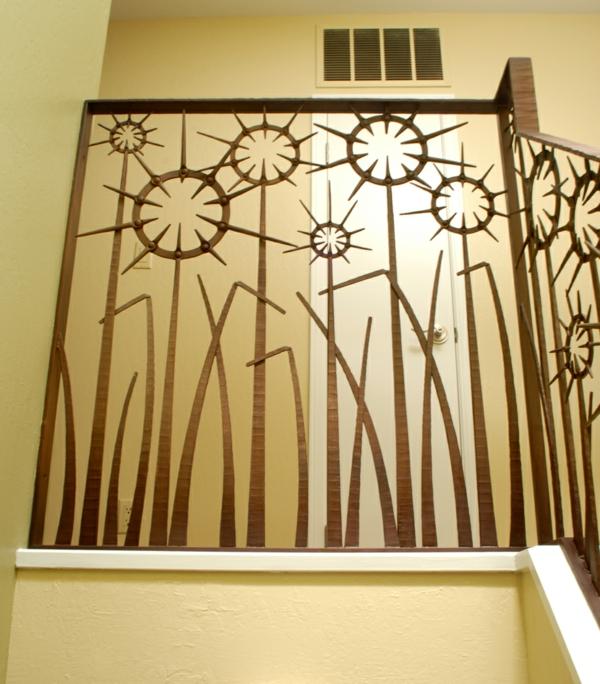 Аbsturzsicherung eigenartig Geländer pflanzen treppe