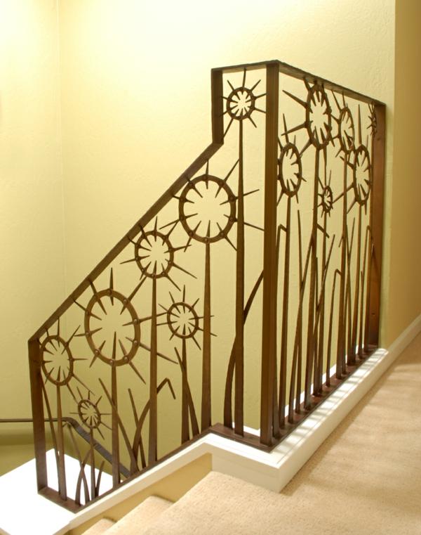 Аbsturzsicherung metall edelstahl Geländer treppe kunstvoll