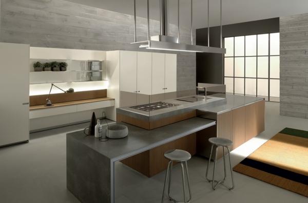 Arbeitsplatte mit Betonoptik küchenarbeitsplatten küchenplatte fenster