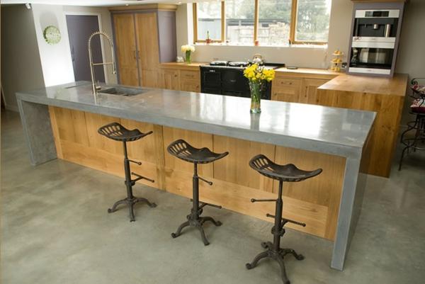 Arbeitsplatte mit betonoptik k chenarbeitsplatten aus beton - Cuisine loft leroy merlin ...