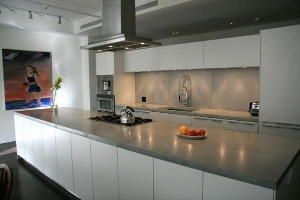 küchenarbeitsplatten küchenplatte regale Arbeitsplatte Betonoptik