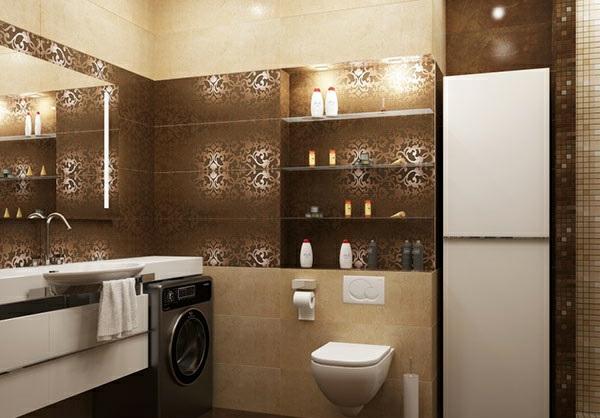 Badezimmer » Moderne Badezimmer Braun - Tausende Fotosammlung Von ... Moderne Badezimmer Fliesen Braun
