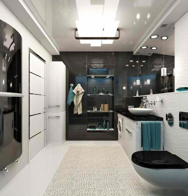 Badezimmer Regale aus Glas urban