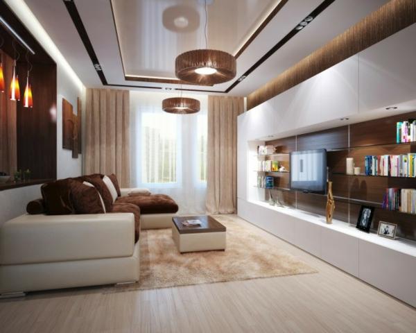 beispiele f r wohnzimmereinrichtung hochmoderne art wohnideen. Black Bedroom Furniture Sets. Home Design Ideas
