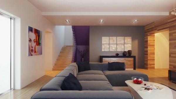 Beispiele für Wohnzimmereinrichtung - hochmoderne Art ...