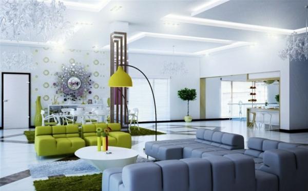 Beispiele Fr Wohnzimmereinrichtung Hochmoderne Art