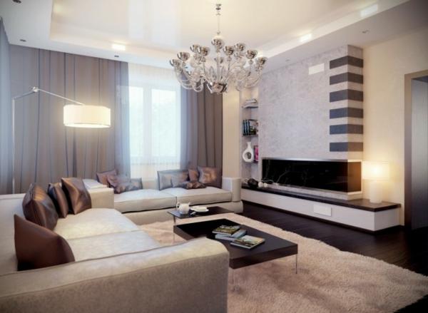 wohnzimmergestaltung schön Wohnzimmereinrichtung