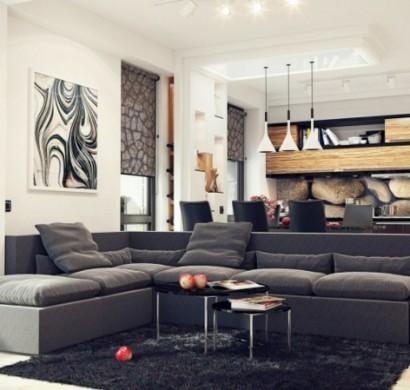 Wohnzimmereinrichtung beispiele  Beispiele für Wohnzimmereinrichtung - hochmoderne Art Wohnideen