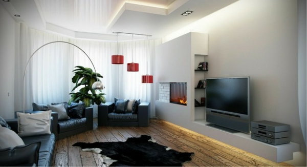 Beispiele Fur Wohnzimmereinrichtung Hochmoderne Art Wohnideen