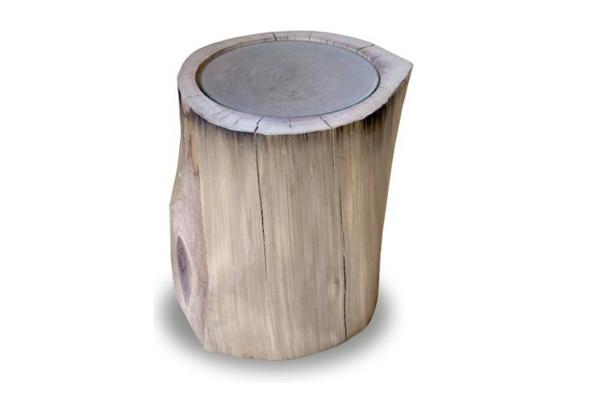 Beistelltisch gewöhnlich Holzblock simpel