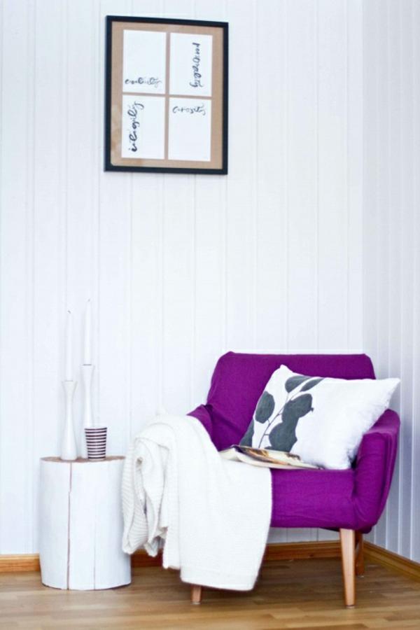 Beistelltisch gemälde Holzblock sitzecke sessel
